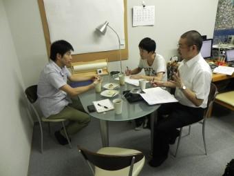 向井さんインタビュー風景