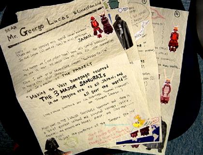 ルーカス監督へ送った手紙